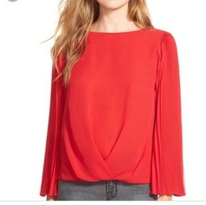 Vince Camuto Tops - Vince Camuto Chiffon Blouse with Pleated Sleeves